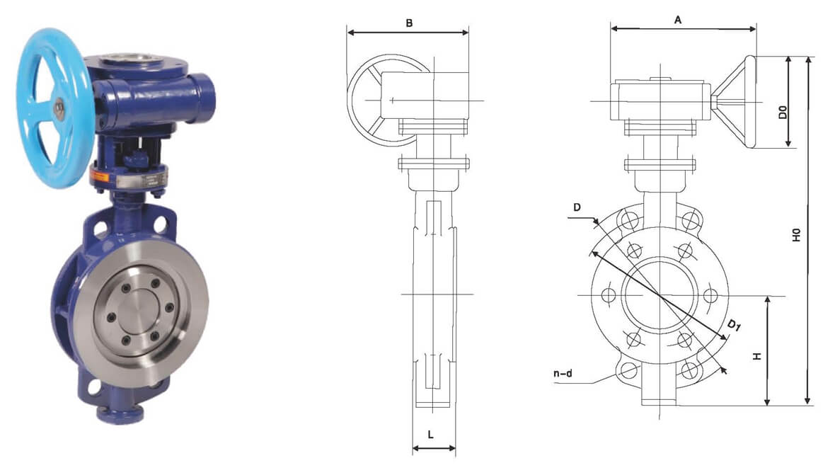 D36973HYW Hard Sealing Wafer Butterfly Valve