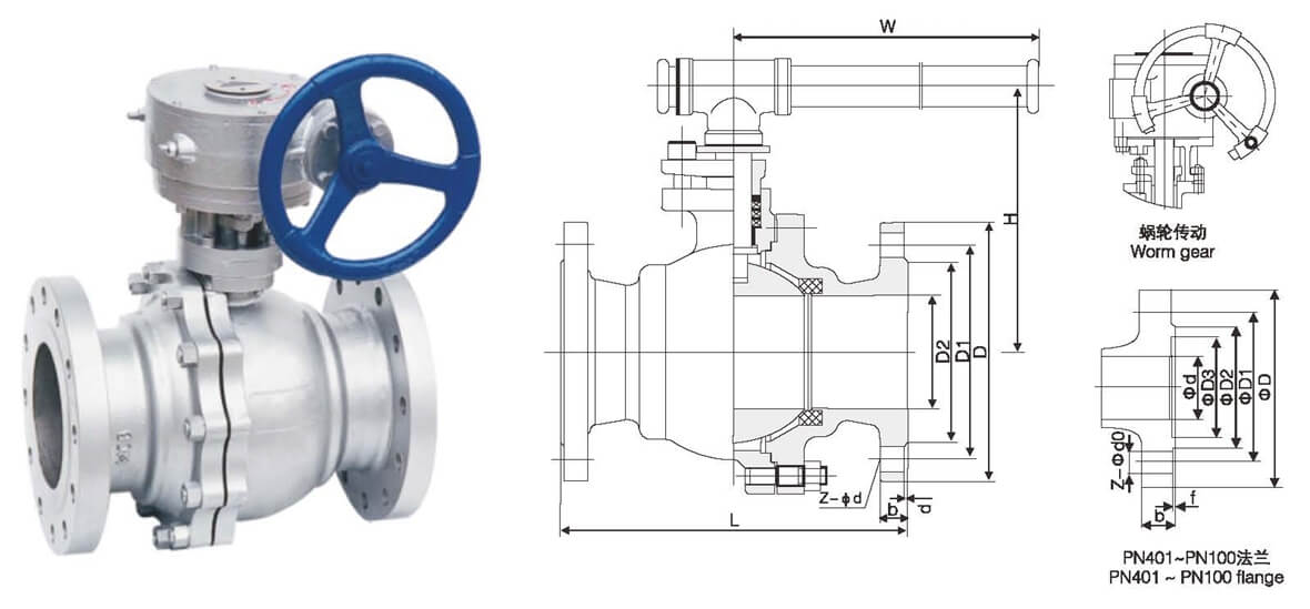 Hard Sealing Floating Ball Valve D