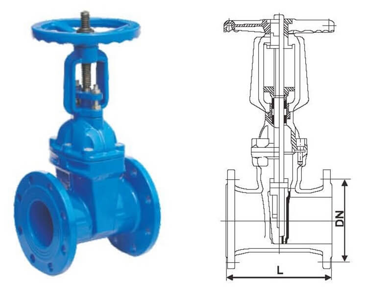 RRHX Rising Stem Resilient Seated Gate Valve